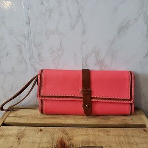 Madewell Bags - Madewell Channel Clutch in Bright Pink